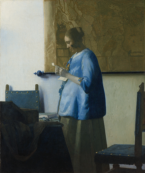 Image courtesy of the Getty - Vermeer's Woman in Blue Reading a Letter