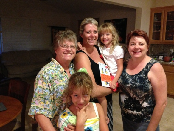 Ursula, her daughter Lori, Lori's daughters Maddie and Bella (in arms) and me!