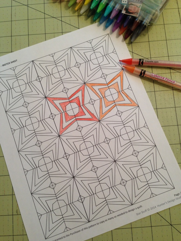 Color in Star pattern