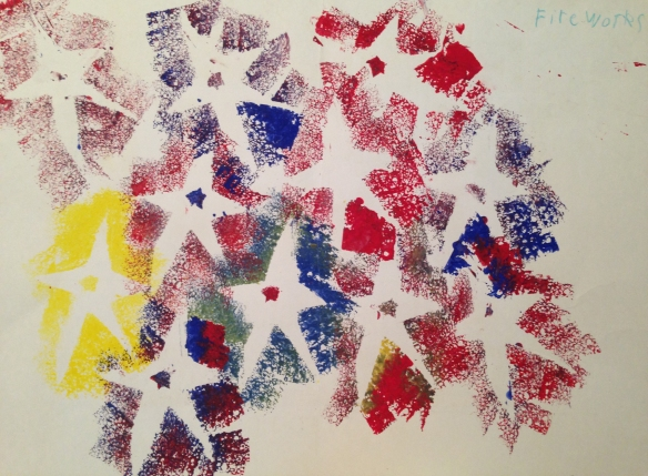Fireworks, by my sweet son, from a long time ago.