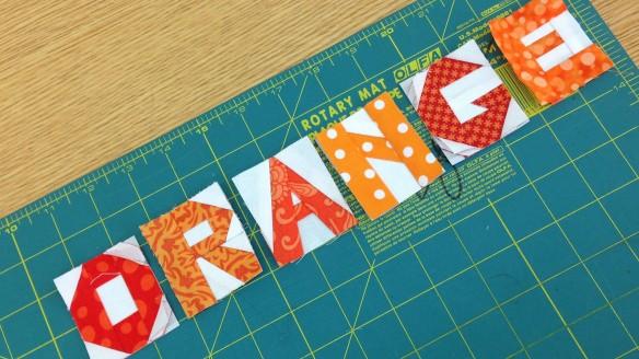 PP Letters Orange